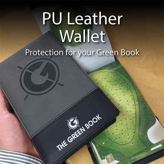 PU Leather Green Book Wallet